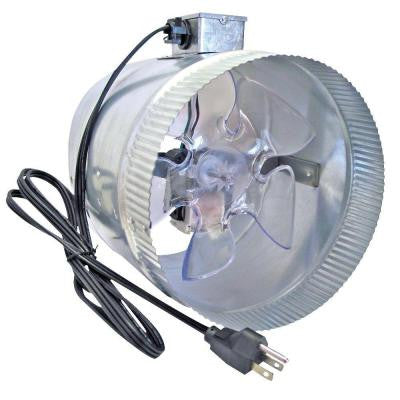 Corded 8 in. In-Line Duct Fan