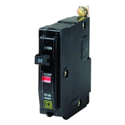 QO 20 Amp Single-Pole Bolt-On Circuit Breaker