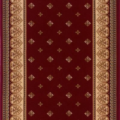 Sapphire Fleur De Lis Claret 2 ft. 2 in. x Your Choice Length Roll Runner