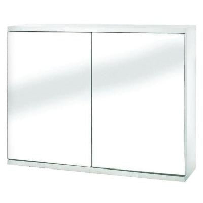 23-5/8 in. W Simplicity Double Door Mirrored Cabinet in White