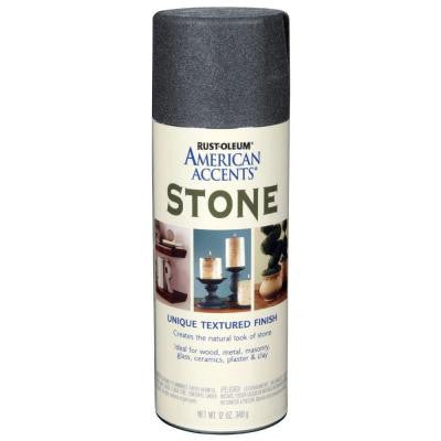 12 oz. Stone Gray Stone Textured Spray Paint (6-Pack)