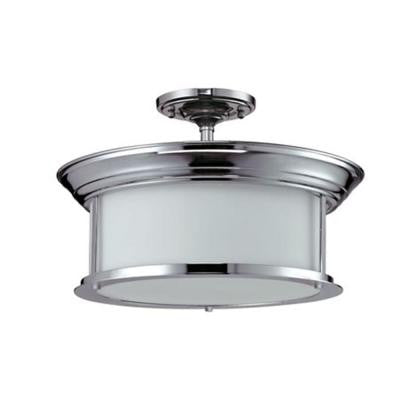 Lawrence 3-Light Chrome Incandescent Ceiling Semi-Flush Mount
