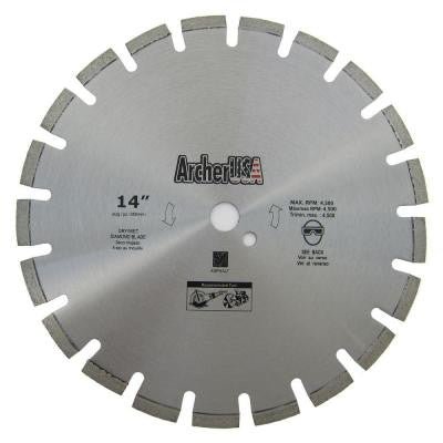14 in. Diamond Blade for Asphalt Cutting