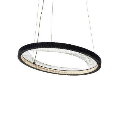 Interlace 18 in. Rubberized Black LED Suspension