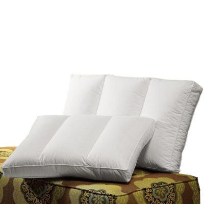 34 in. W Triad White King Down Pillow