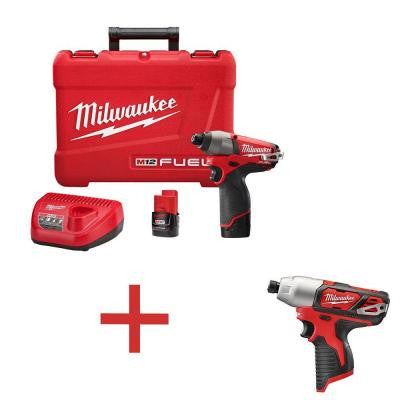 M12 FUEL 12-Volt 1/4 in. Hex Impact Driver Kit with Free M12 1/4 in. Hex Impact (Tool-Only)