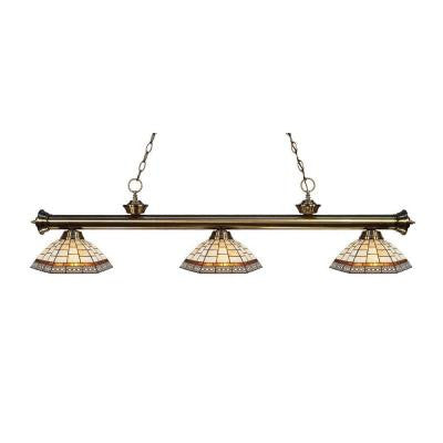 Coastal Brass 3-Light Antique Brass Island Light