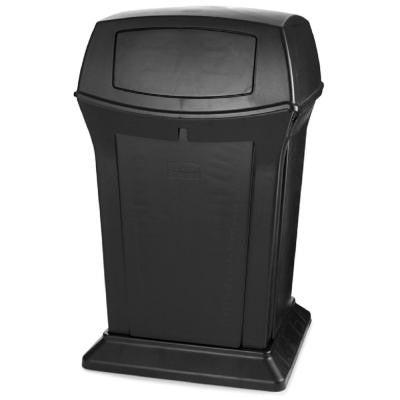 Ranger 45 Gal. Black 2-Door Trash Can