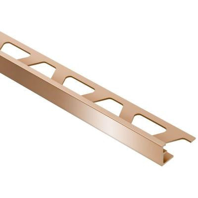 Schiene Bright Copper 5/16 in. x 8 ft. 2-1/2 in. Anodized Aluminum L-Angle Tile Edging Trim