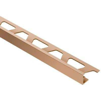 Jolly Satin Copper/Bronze Anodized Aluminum 3/8 in. x 8 ft. 2-1/2 in. Metal Tile Edging Trim