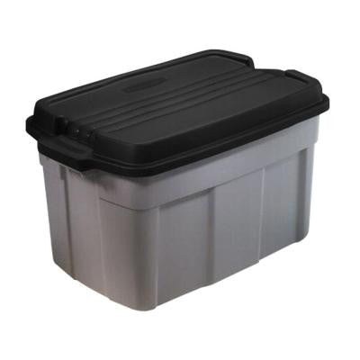 Roughneck 37 gal. Storage Tote in Gray (3-Pack)