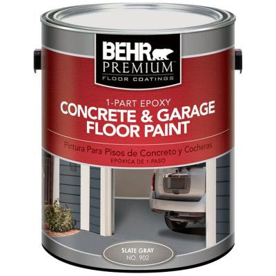 1-gal. #902 Slate Gray 1-Part Epoxy Concrete and Garage Floor Paint