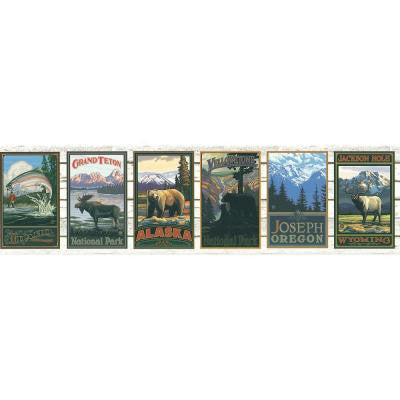 9 in. National Park Scene Border