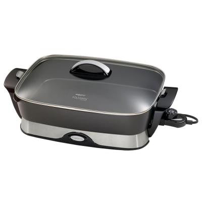 Electric Non-Stick Foldaway Skillet Cooking Surface is 16 in. x 12 in.