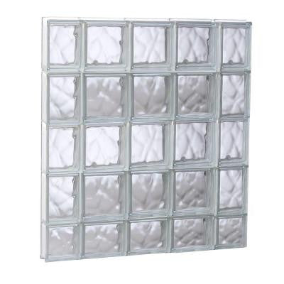 34.75 in. x 36.75 in. x 3.125 in. Non-Vented Wave Pattern Glass Block Window