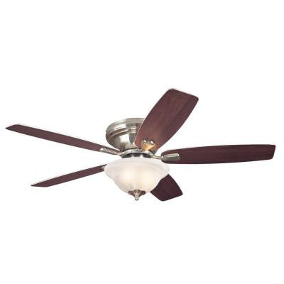 Sumter 52 in. Brushed Nickel Ceiling Fan