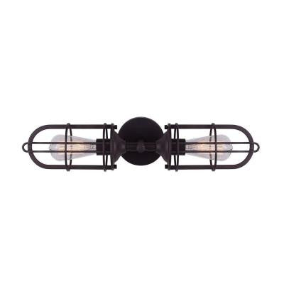 Indus 2-Light Oil Rubbed Bronze Vanity Light