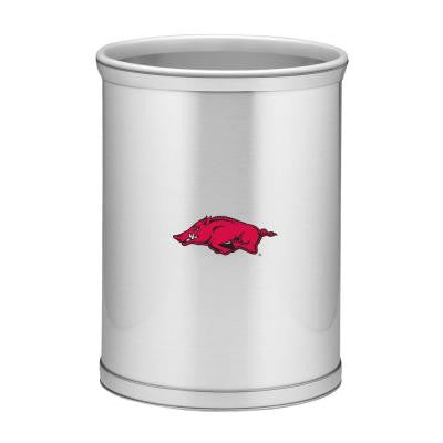 13 in. Arkansas Brushed Chrome Mylar Trash Can
