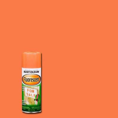 11 oz. Orange Fluorescent Spray Paint (Case of 6)