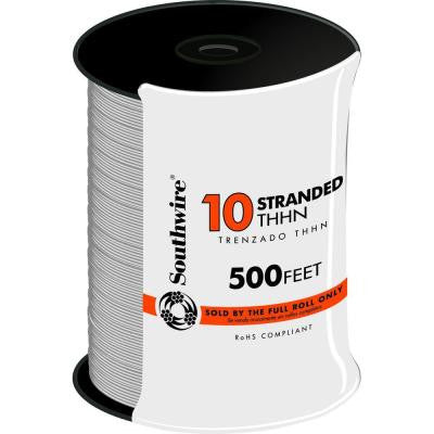 500 ft. 10 Stranded THHN Wire - White