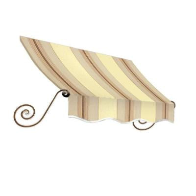 14 ft. Charleston Window Awning (24 in. H x 12 in. D) in Gray/Cream/Black Stripe