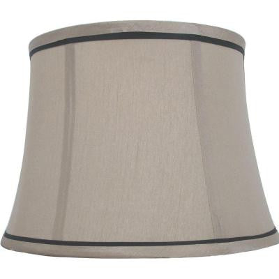 Mix & Match Brown Trim Round Bell Table Shade