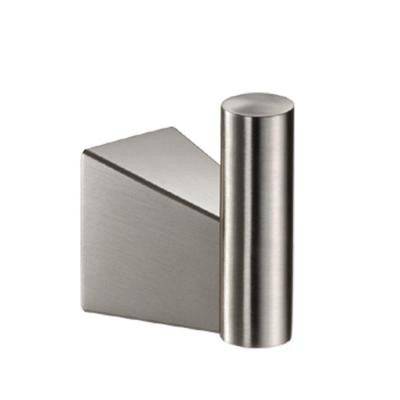 Bleu Single Robe Hook in Satin Nickel