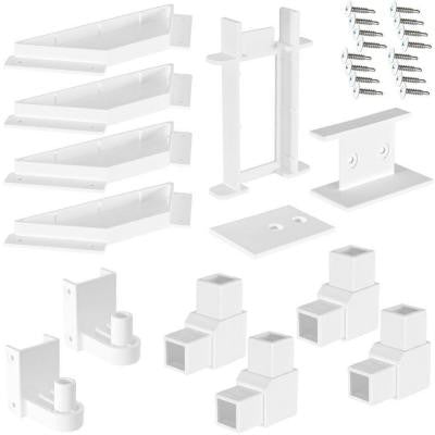 White Modular Vinyl Fence Gate Kit