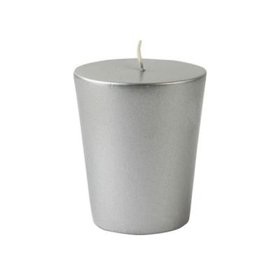 1.75 in. Metallic Silver Votive Candles (12-Box)