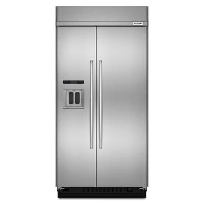 48 in. 29.5 cu. ft. Side by Side Refrigerator in Stainless Steel