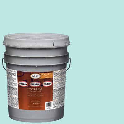 5-gal. #HDGB16U Bay Blue Semi-Gloss Latex Exterior Paint