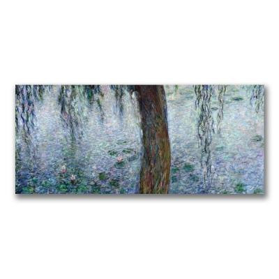10 in. x 24 in. Water Lilies Morning III Canvas Art