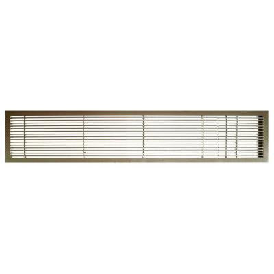 AG10 Series 6 in. x 48 in. Solid Aluminum Fixed Bar Supply/Return Air Vent Grille, Antique Bronze with Door