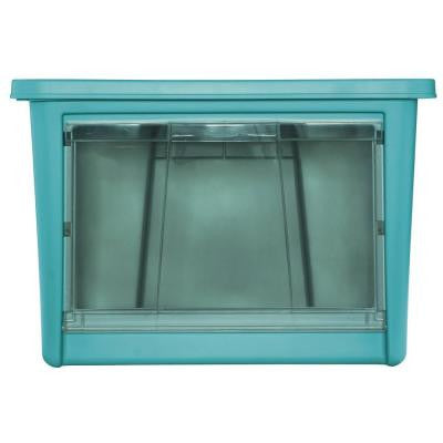 22.0 in. L x 17.5 in. W x 15.1 in. H Large Access Organizer in Turquoise
