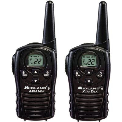 18-Mile 22 Channel 2-Way Radios - Black (2-Pack)