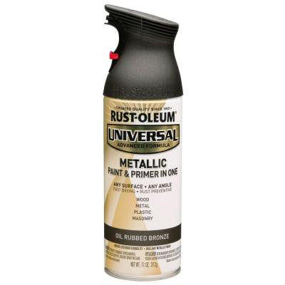 11 oz. All Surface Metallic Satin Oil Rubbed Bronze Spray Paint and Primer in One