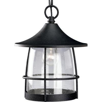 Prairie Collection Outdoor Hanging Gilded Iron Lantern