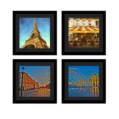 "Four 10 in. x 10 in. ""Paris in Color"" by Neeva Kedem Framed Printed Wall Art"