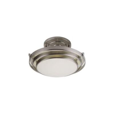 Stewart 2-Light Brushed Nickel CFL Ceiling Semi-Flush Mount Light