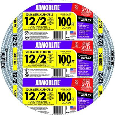 100 ft. 12/2 MC Lite Cable