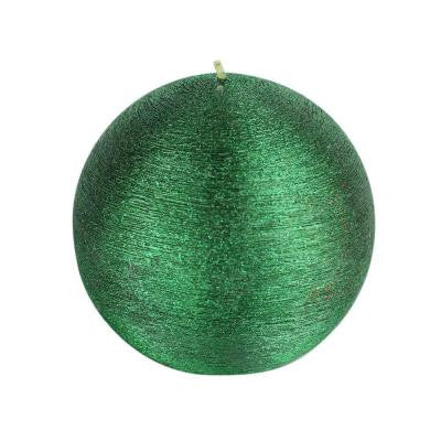4 in. Unscented Green Scratch Ball Candle (2-Box)