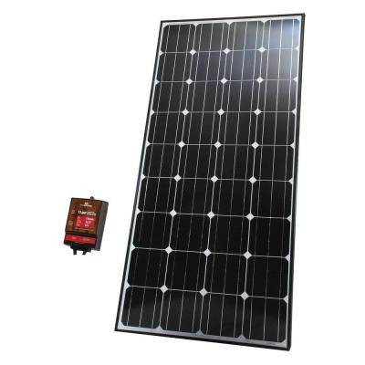 165-Watt Monocrystalline Silicon Solar Panel for 12-Volt Charging