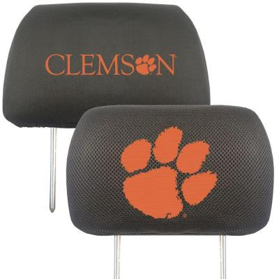 NCAA -Clemson University Head Rest Cover (2-Pack)