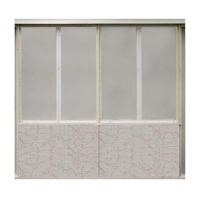 20 sq. ft. Driftwood Fabric Covered Bottom Kit Wall Panel