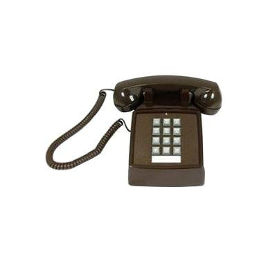 Desk Corded Telephone with Volume Control - Brown