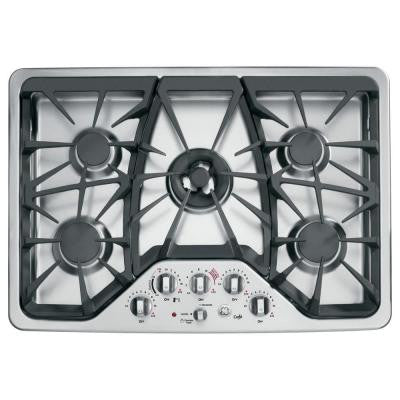 Cafe 30 in. Gas Cooktop in Stainless Steel with 5 Burners including Tri-Ring Burner