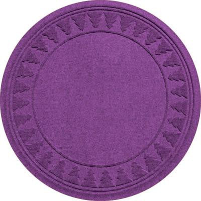 Purple 35 in. Round Pine Trees Under the Tree Mat