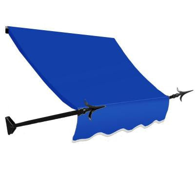 4 ft. New Orleans Awning (44 in. H x 24 in. D) in Bright Blue