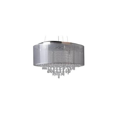 6-Light Chrome Semi-Flush Mount