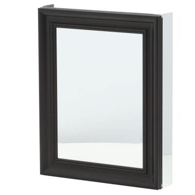 24 in. x 30 in. Recessed or Surface Mount Mirrored Medicine Cabinet in Espresso